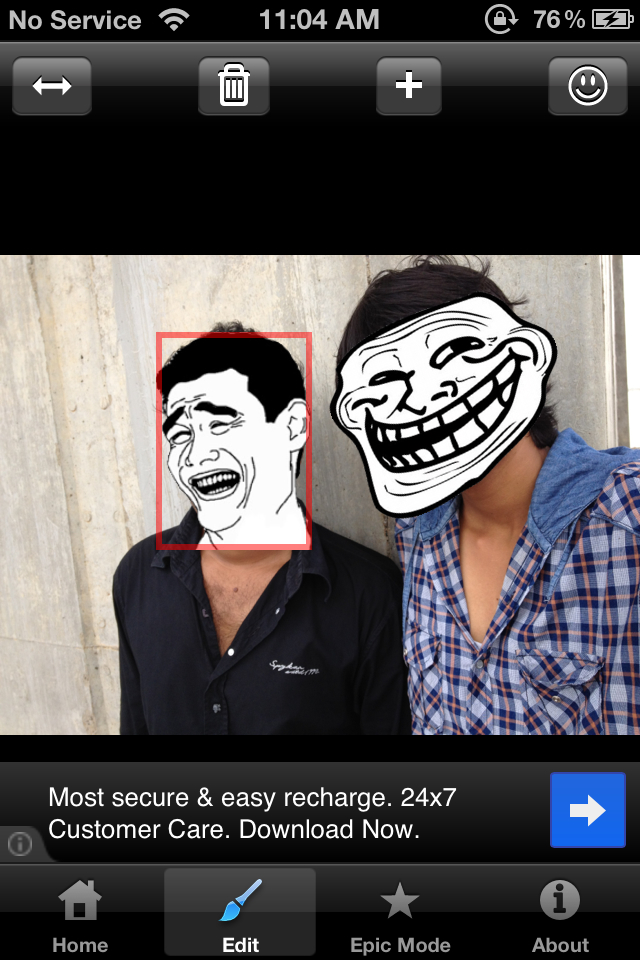 Detect Face on Photos Trollolol