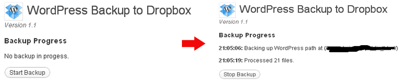 Backing up your wordpress