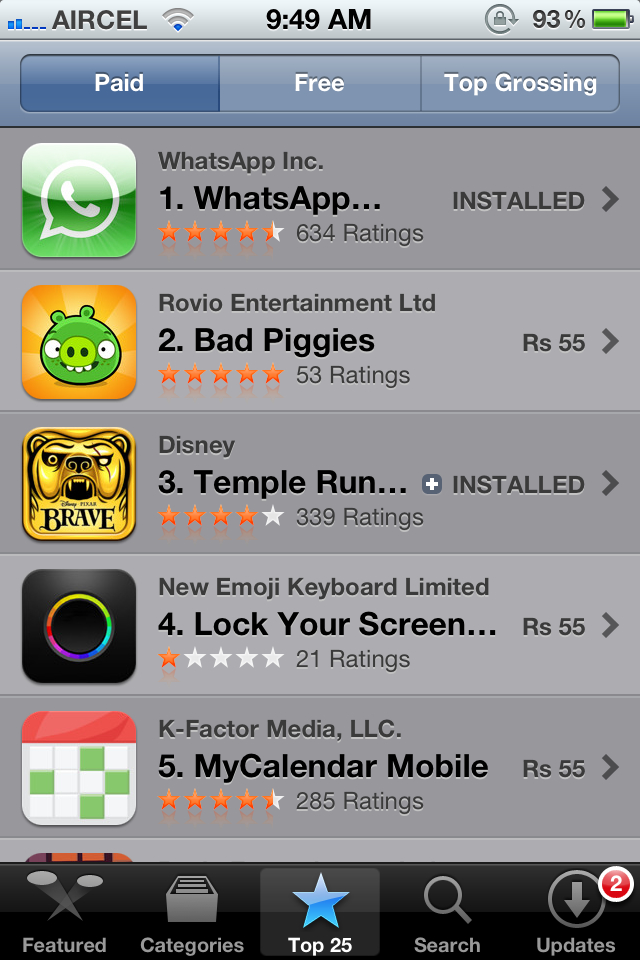 Apple iPhone 5 App store