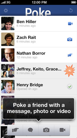 Poke Friends with Custom Message