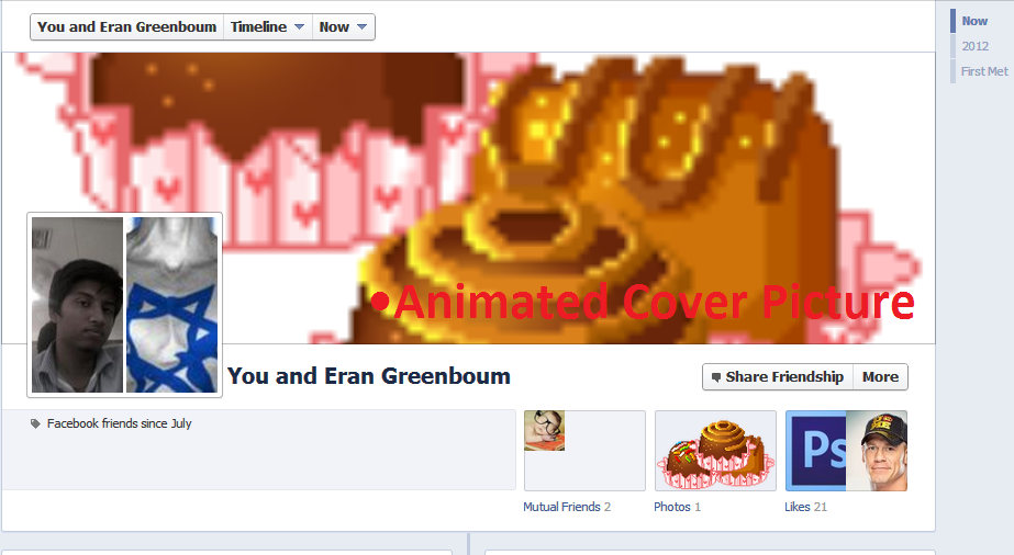 Animated pictures on Facebook See Friendship Cover photo