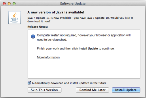 Update Java to fix vulnerability
