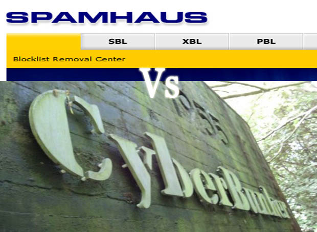 Spamhaus under attack by Cyberbunkers