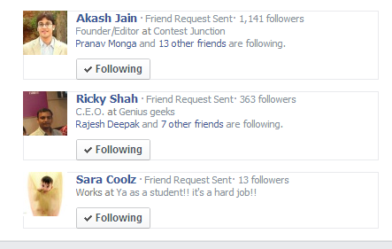 Sent Friend Request Pending