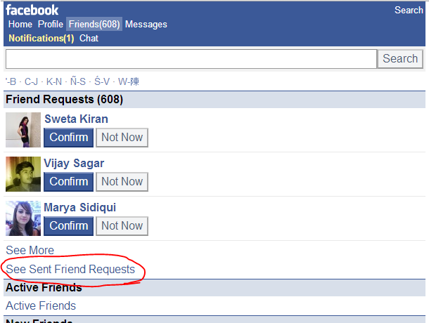 Cancel all outgoing Friend Request