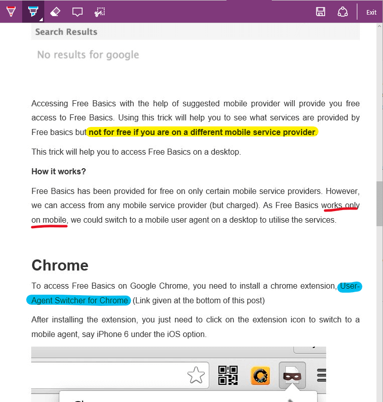 Edge Web Note - Won't switch back to chrome