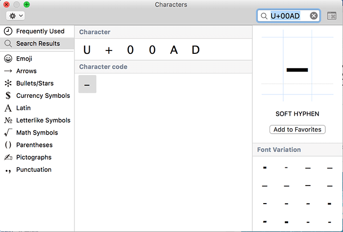 How To Type Empty Character on Mac [Alt 0173]