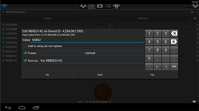 Change basketball Score in messenger