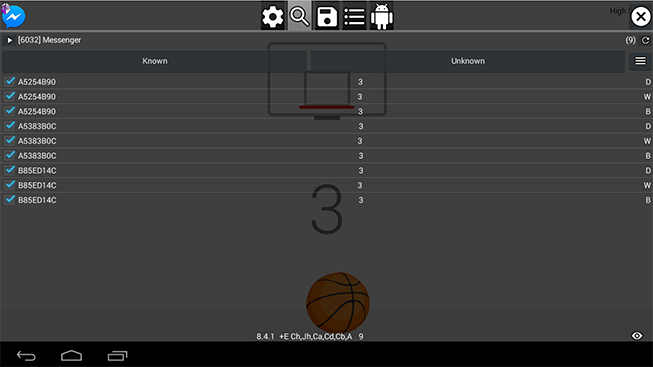 Filter Basketball Score on Messenger