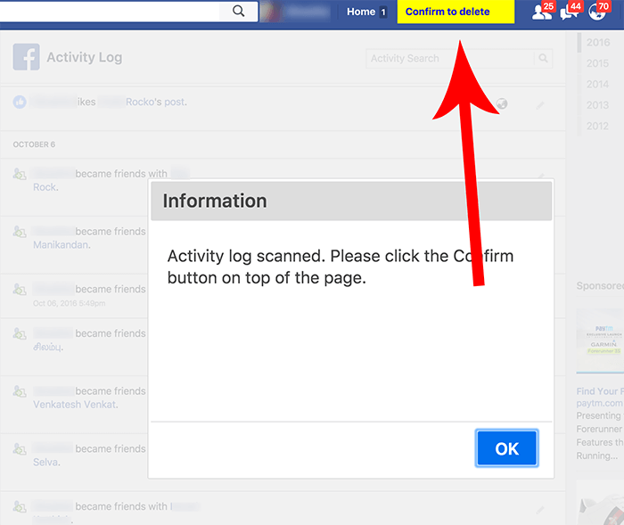 Delete All Facebook Posts In Single Click [How To]