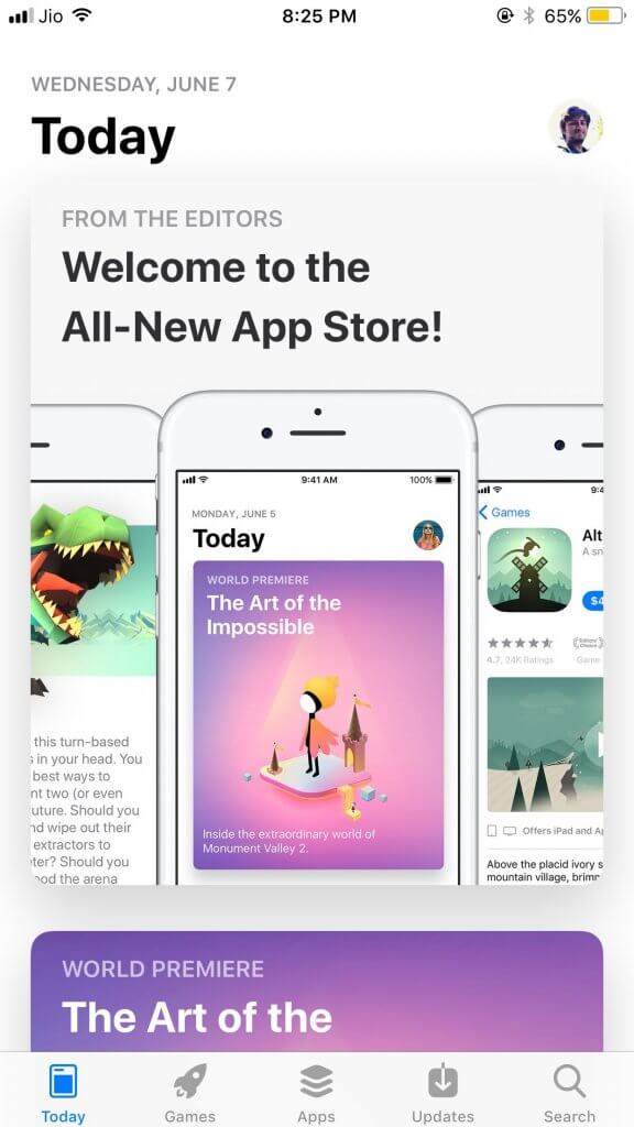 Revamped App Store for iOS 11