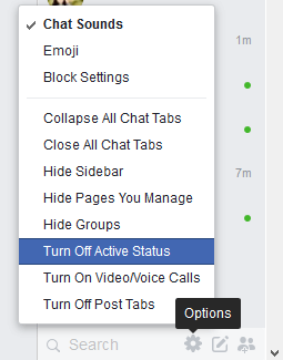 Turn off Active Status on Facebook Messenger