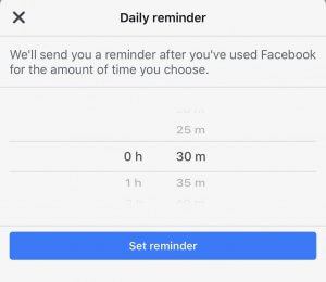 Limit Facebook Usage by Setting Reminder