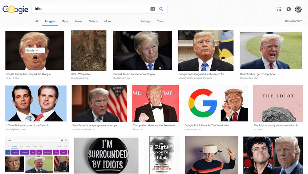 Idiot Google Images Search Donald Trump