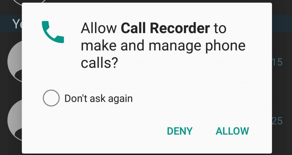 Call Recorder Permission