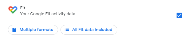 Choose Google Fit